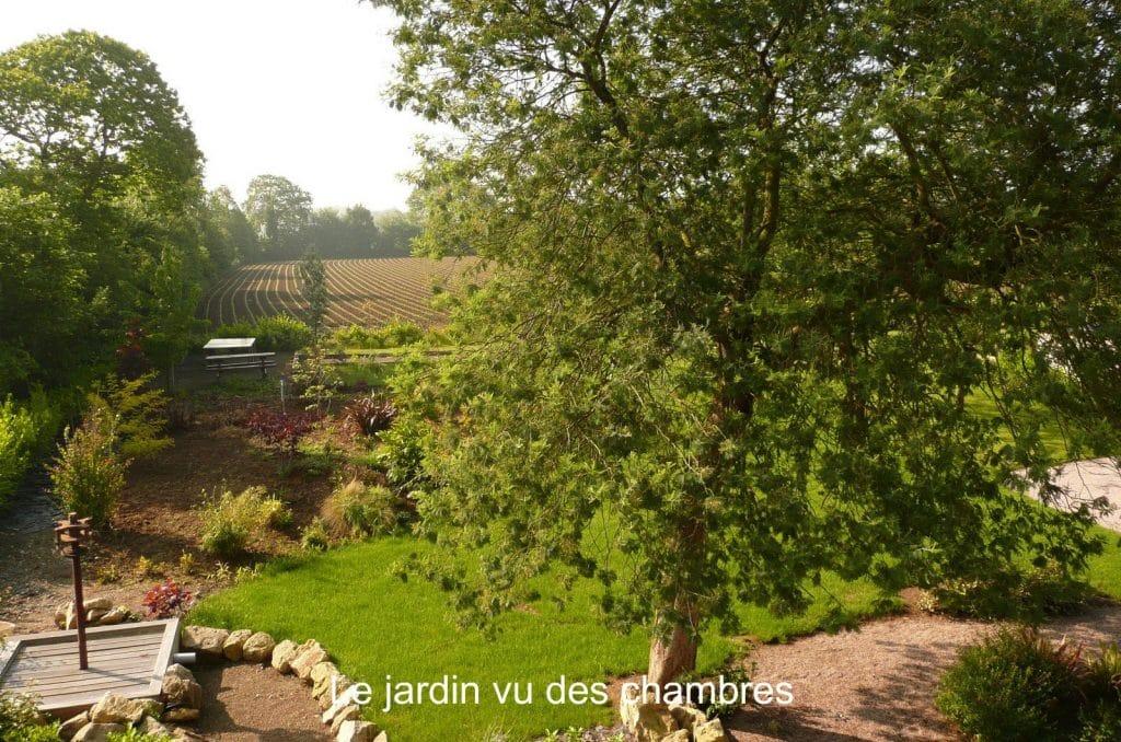 Jardin vu des chambres de La Grange