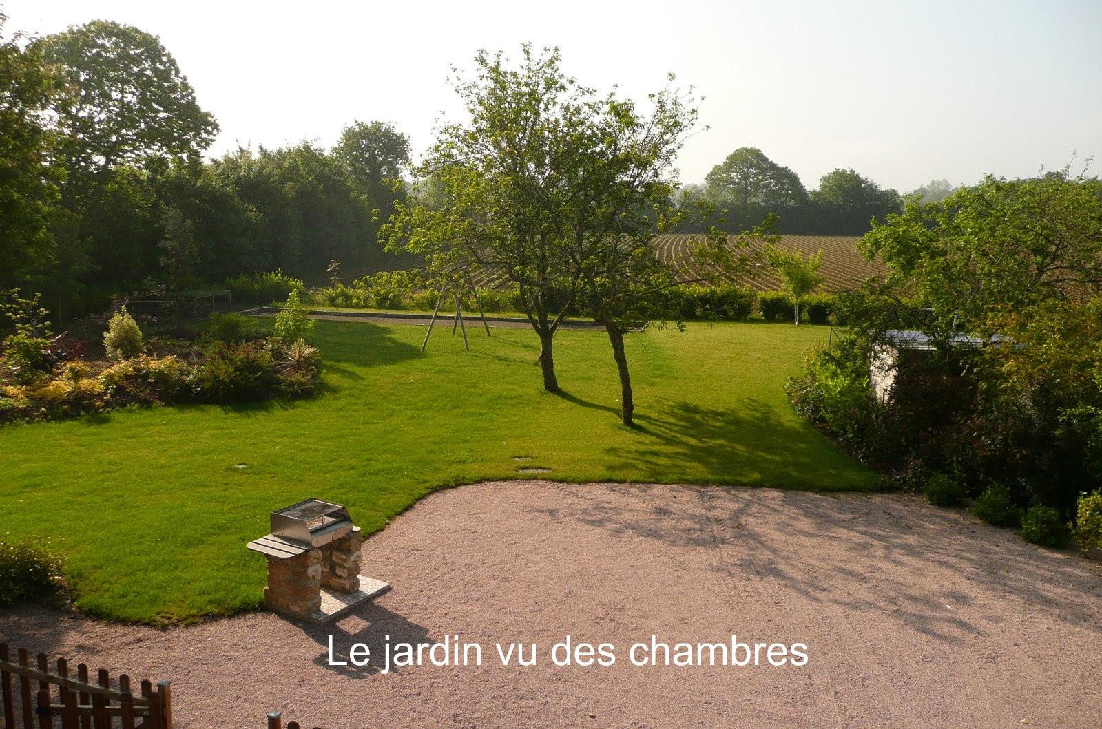 Jardin vu des chambres de La Ferme