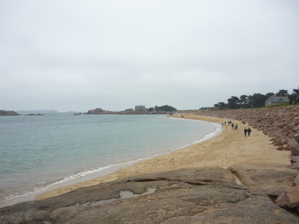 The beach in Trégastel